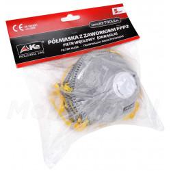 Półmaski przeciwpyłowe z filtrem węglowym 5 szt