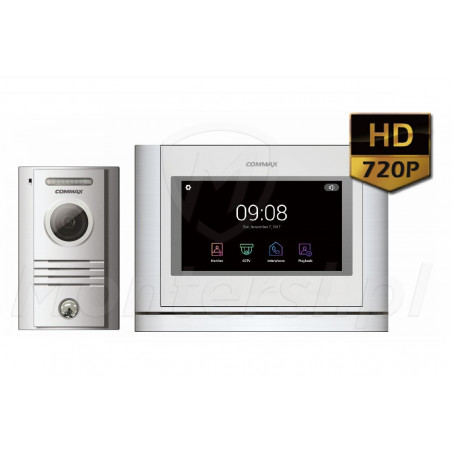 CDV-704MA(DC) + DRC-40KHD - Zestaw 1-abonentowego wideodomofonu 720p