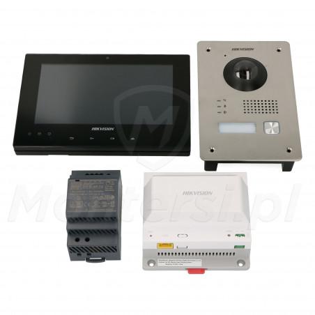 DS-KIS701-B-D - Zestaw wideodomofonu z monitorem, zasilaczem i dystrybutorem