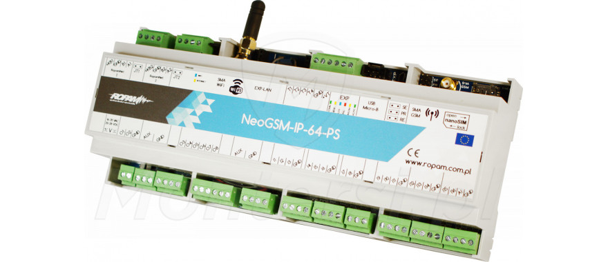 NeoGSM-IP-64-PS-D12M - Centrala alarmowa