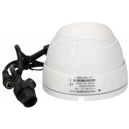 PIX-IP2SFDMIRS-W-III - Tył kamery i wtyczki