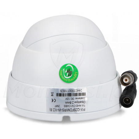 PIX-Q2SFDMIRS-W-II - Tył kamery i wtyczki