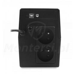 Tył zasilacza Micro UPS 600 7Ah