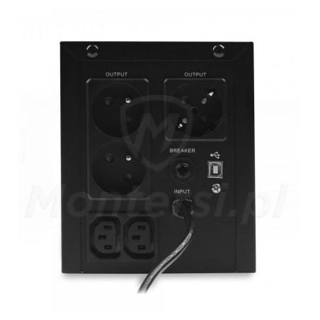 Tył zasilacza Micro UPS 1500 2x9Ah