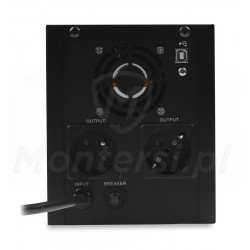Tył zasilacza Micro UPS 3000 4x9Ah