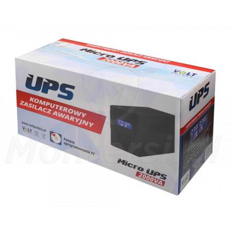 Opakowanie zasilacza Micro UPS 2000 2x9Ah