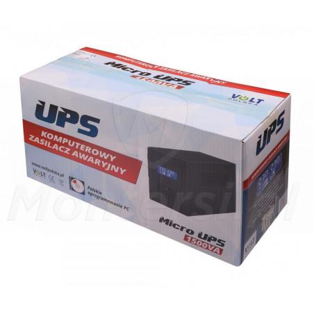 Opakowanie zasilacza Micro UPS 1500 2x9Ah