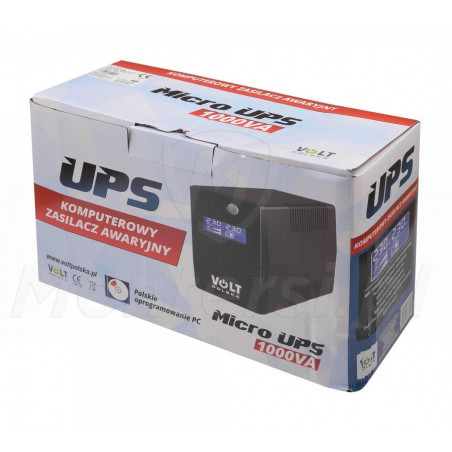 Opakowanie zasilacza Micro UPS 1000 9Ah