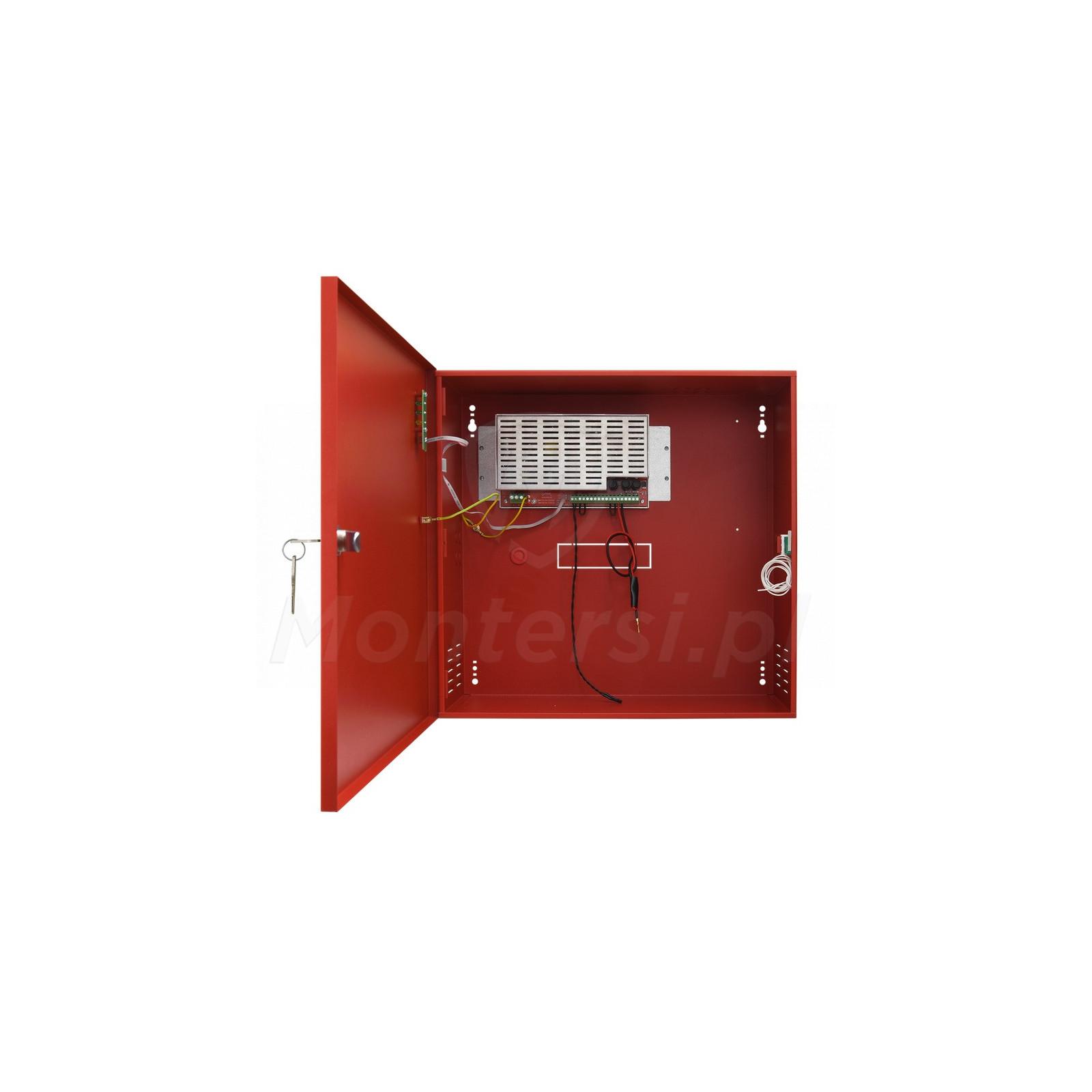 Wnętrze zasilacza buforowego EN54C-3A28