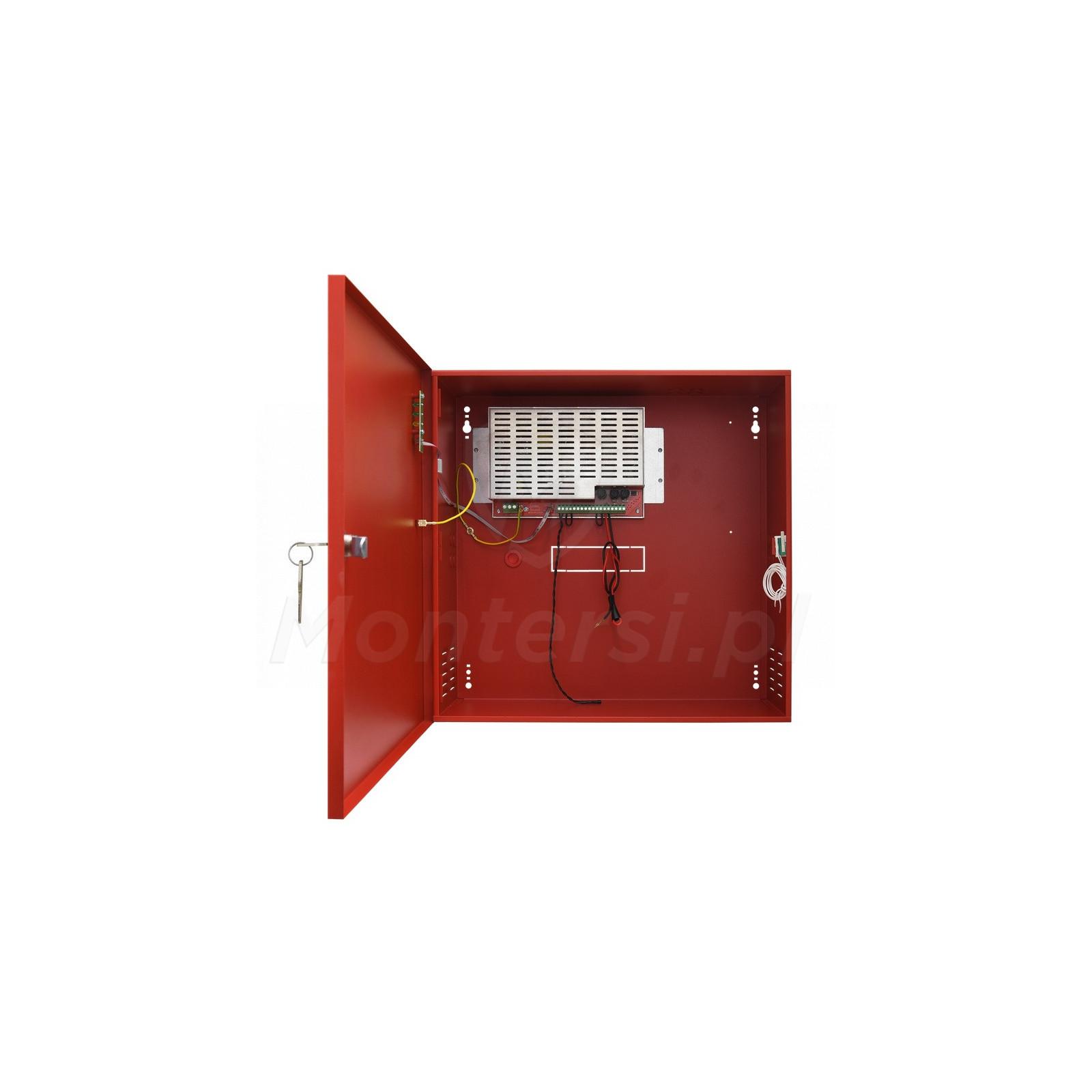 Wnętrze zasilacza buforowego EN54C-5A28