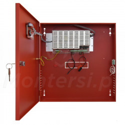 Wnętrze zasilacza buforowego EN54C-3A17LCD