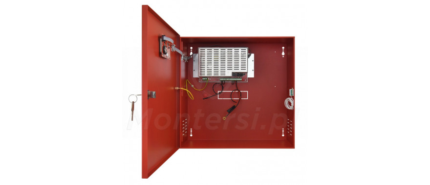 Wnętrze zasilacza buforowego EN54C-5A40LCD