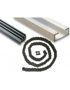 Łańcuchy i profile aluminiowe