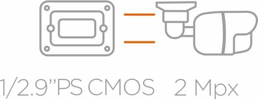 Ikona 1/2.9'' PS CMOS 2Mpx