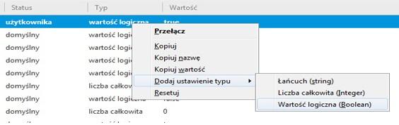 usuwanie problemu - dodaj wartość logiczną o nazwie: plugin.load_flash_only