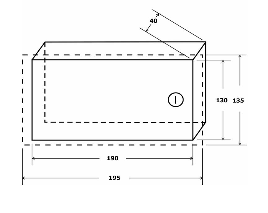 Wymiary obudowy AWO350