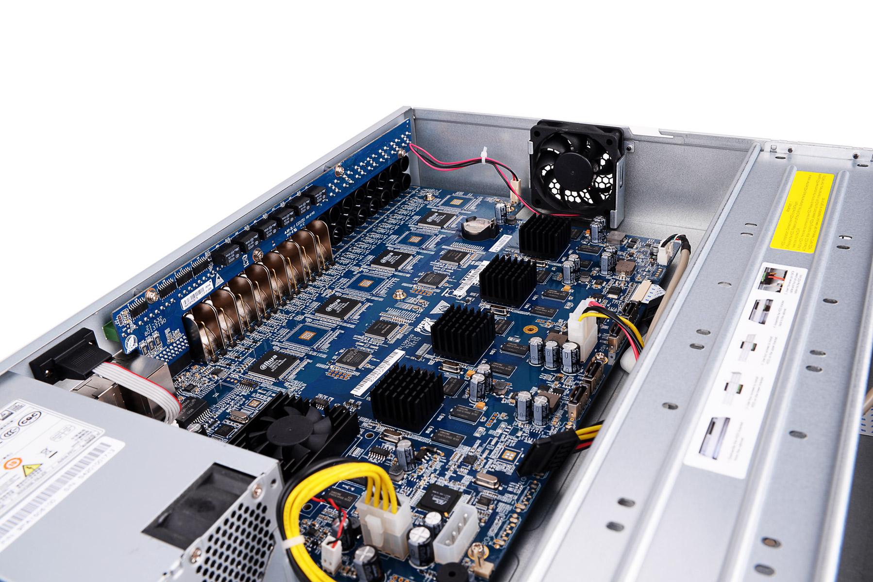 Wnętrze rejestratora BCS-CVR16042M