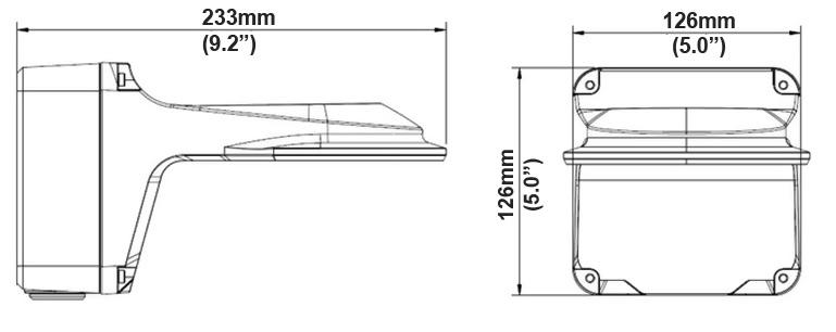 wymiary uchwytu BCS-PUA112