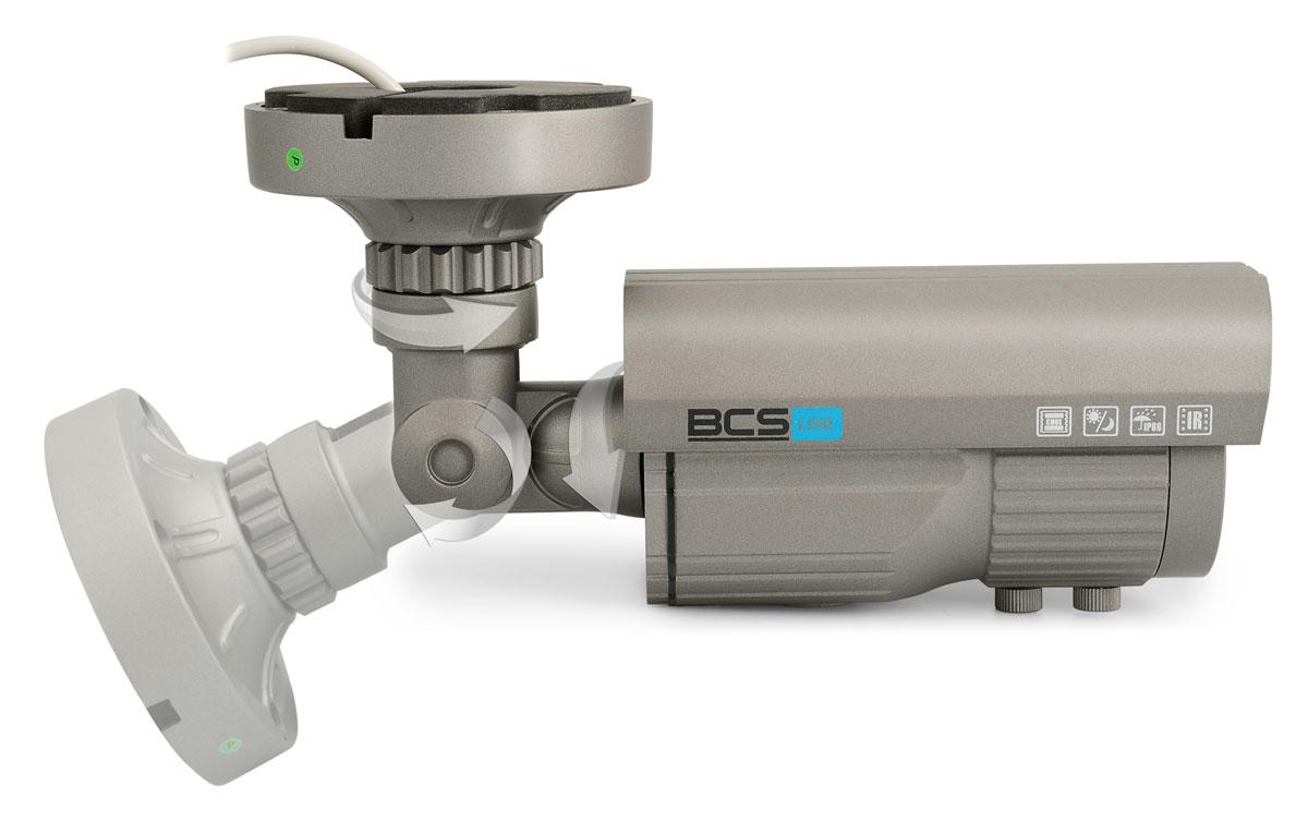 Położenie kamery BCS-T672TDNUIR3 może być regulowane we wszystkich płaszczyznach