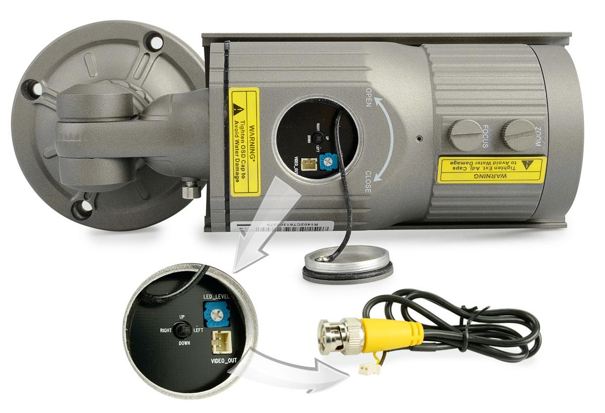 Dodatkowe wejścia i joystick w kamerze BCS-T672TDNUIR3