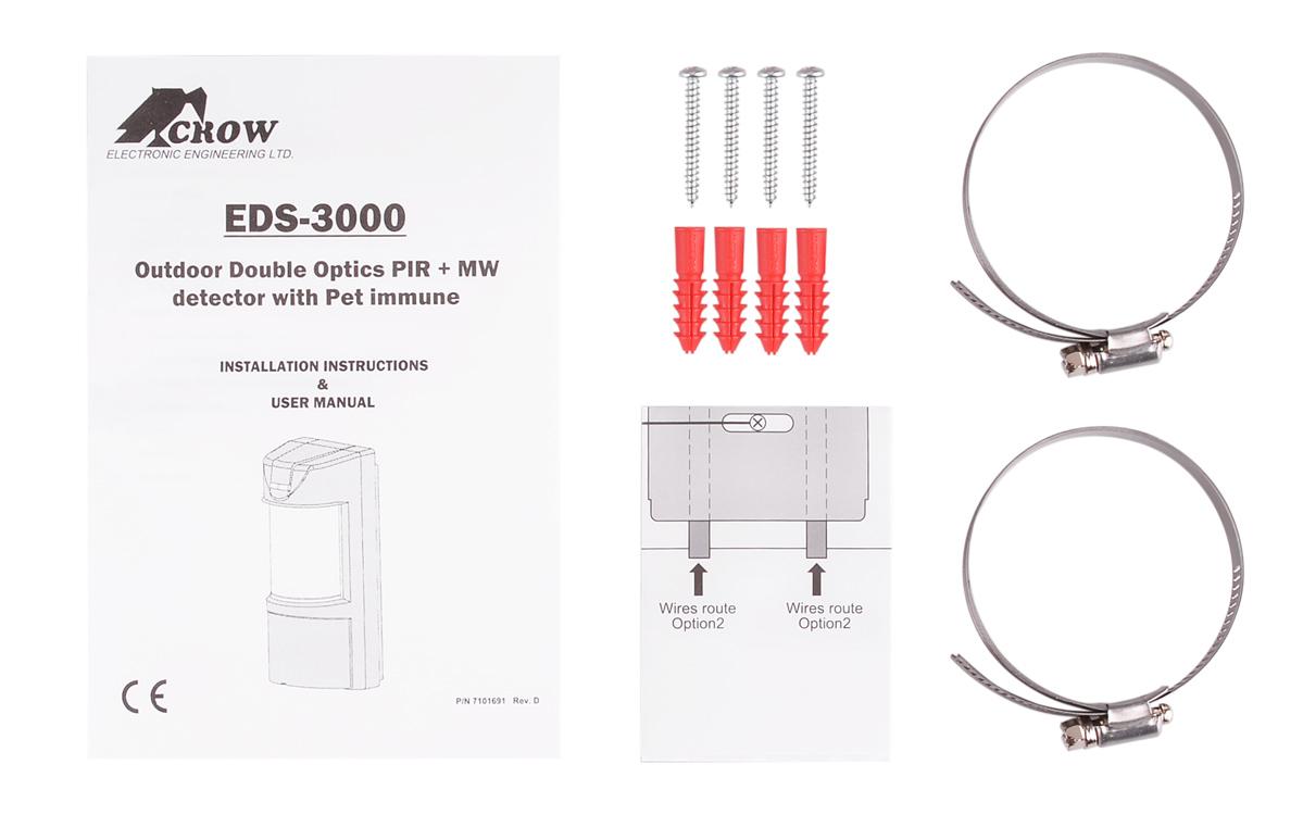 Akcesoria montażowe w zestawie z czujką EDS-3000