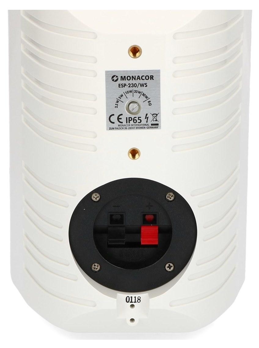 Przełącznik regulujący i gniazda sprężynowe w ESP-230/WS