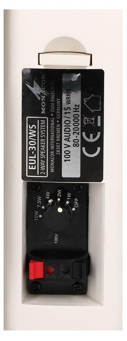 EUL-30WS Panel podłączeniowy i przełącznik mocy
