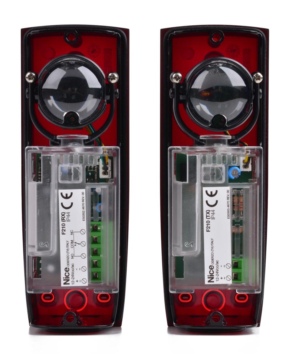 Wnętrze fotokomórek F210