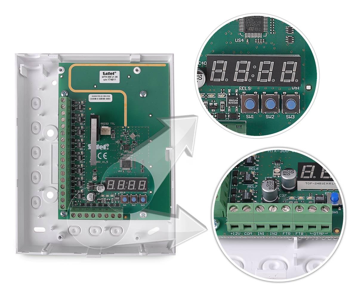 Wejścia i panel do programowania kontrolera MTX-300