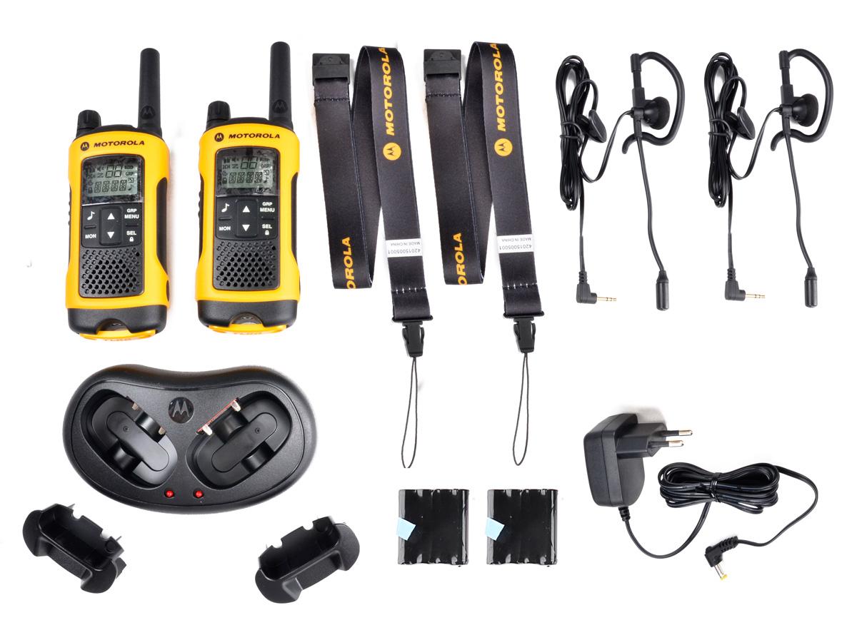 Elementy wchodzące w skład zestawu Motorola T80 EXT