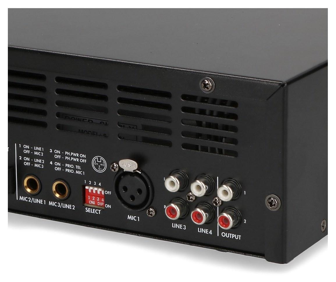 Przełącznik dip orawejscia mic/line PA-803DMP
