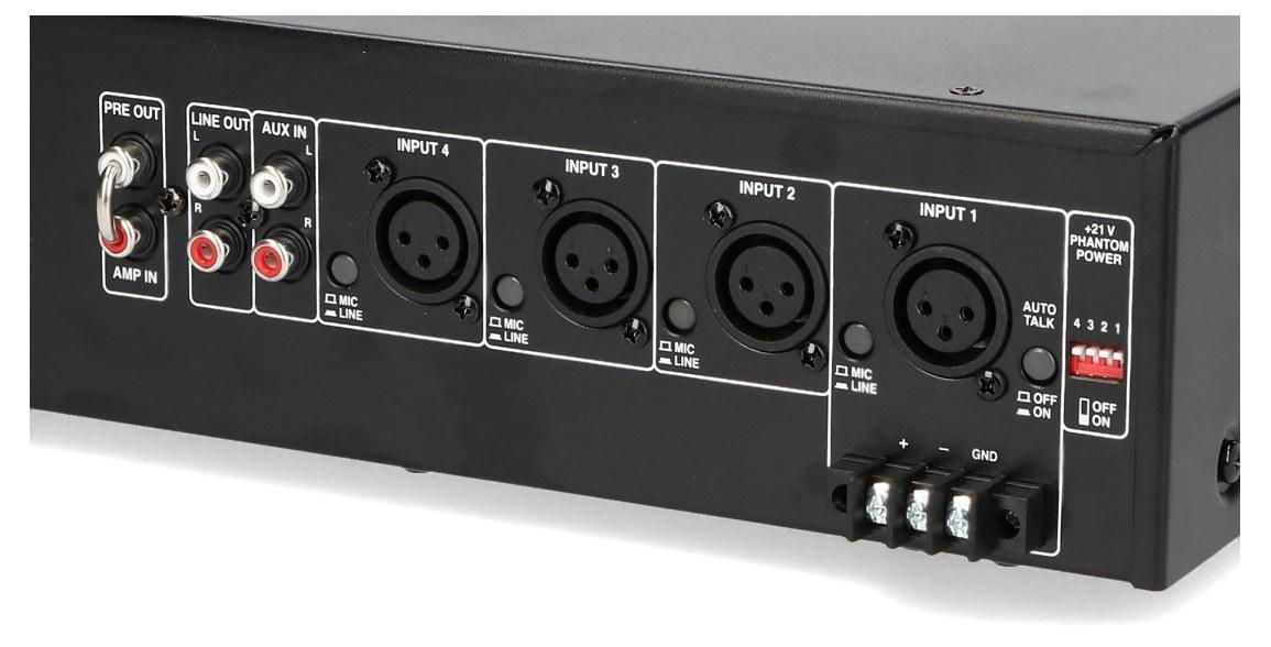 Wejścia input i dodatkowe złącza w PA-900