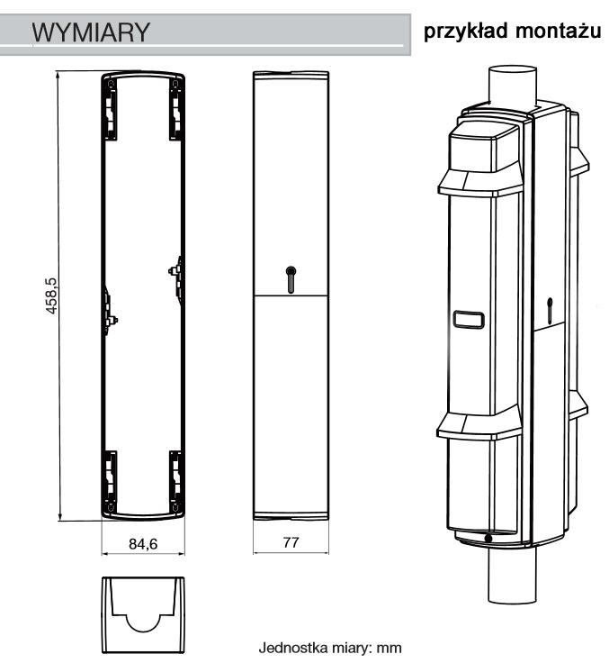 Wymiary osłony PSC-4