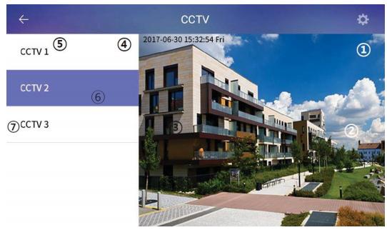 Widok aplikacji do podglądu kamer w sieci lokalnej na monitorze CIOT-1020M