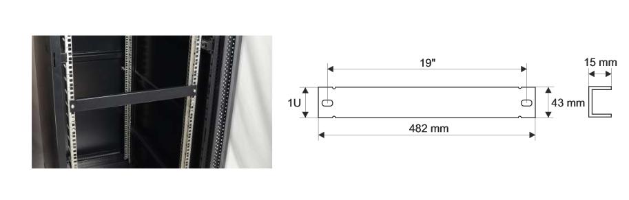 Wymiary i przykład zamocowania panelu RAPZ1