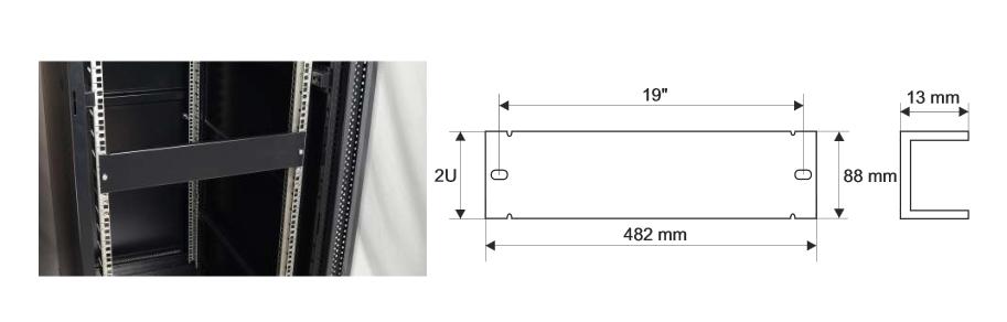 Wymiary i przykład zamocowania panelu RAPZ2