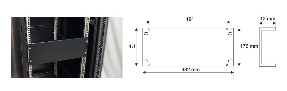 Wymiary i przykład zamocowania panelu RAPZ4