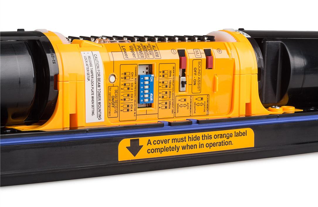 Przełączniki umożliwiające zmianę parametrów pracy bariery SL-350QDP