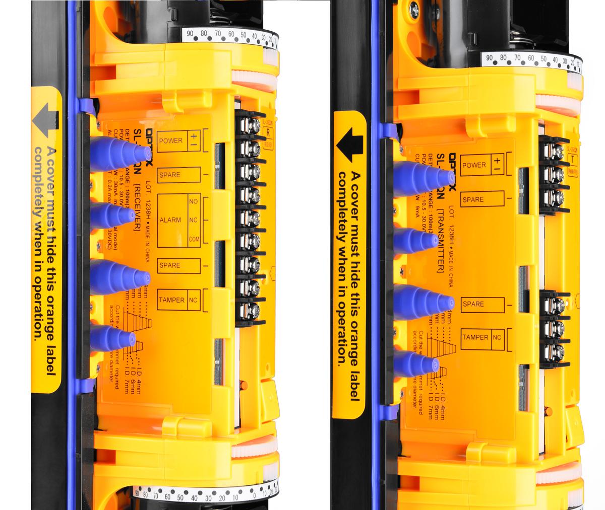 Zaciski śrubowe umożliwiają łatwe podłączenie przewodów