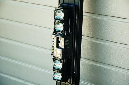 Przykład montażu bariery ma kolumnie SP60/30 KIT180