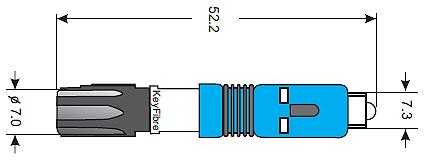 Wymiary złącza mechanicznego KayQuick10SC/UPC MM