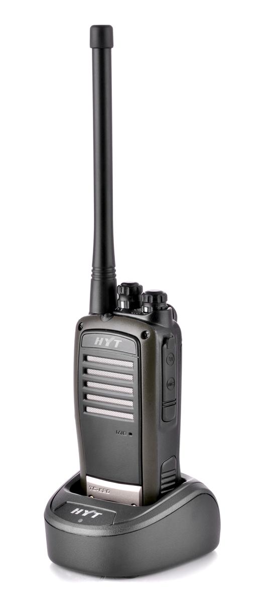 Radiotelefon TC-620 umieszczony w podkładce ładującej