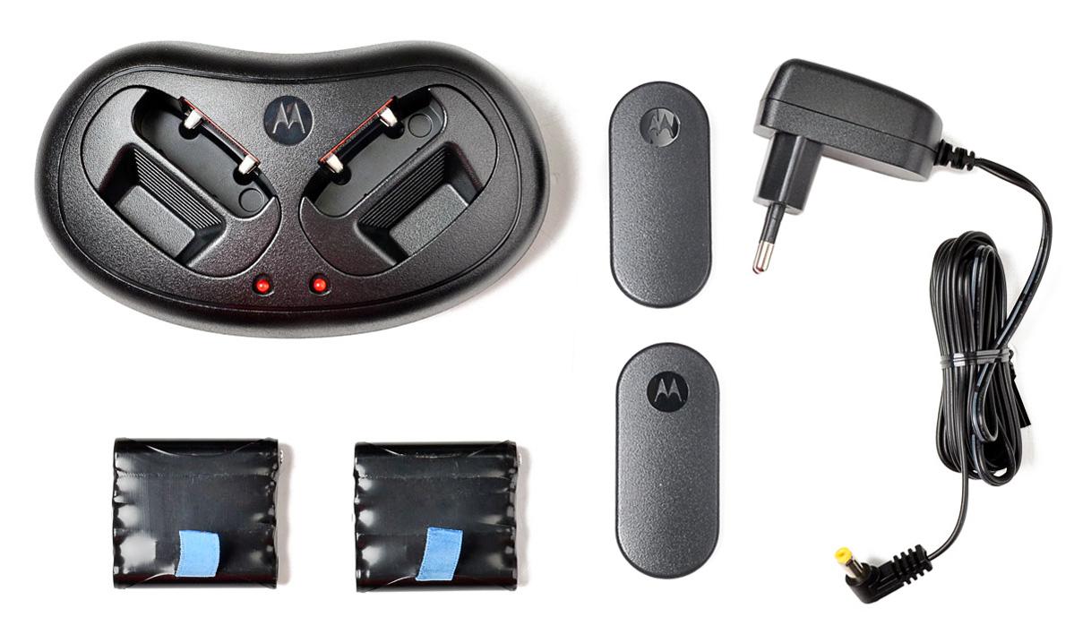Akcesoria wchodzące w skład zestawu Motorola T60
