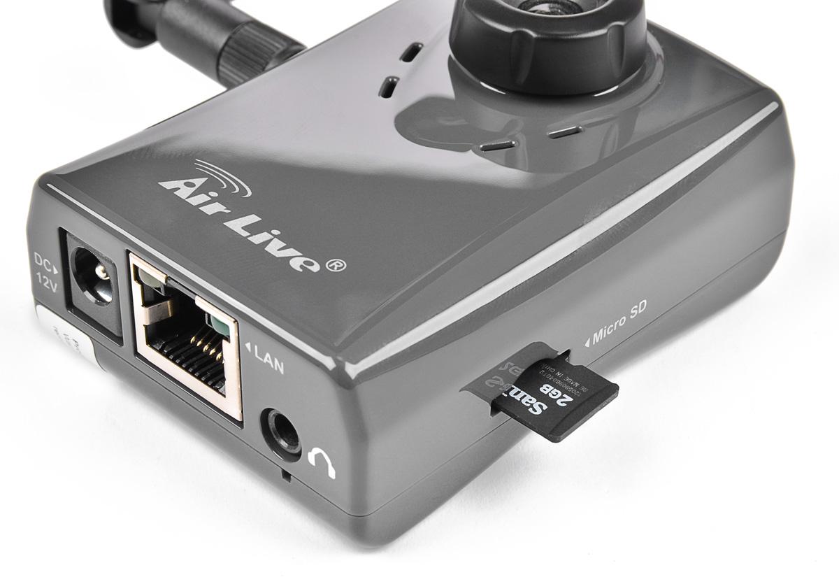 Gniazdo na kartę SD w kamerze IP-200PHD