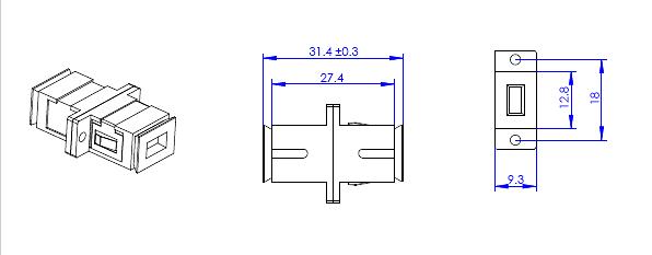 Wymiary adaptera A-511S