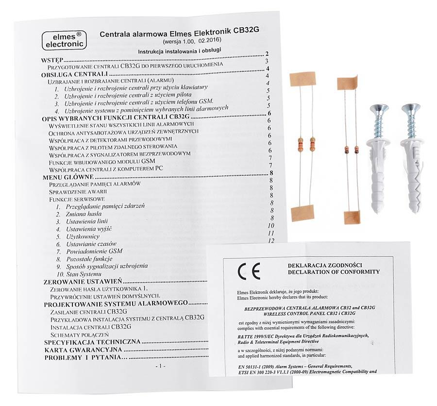 Akcesoria centrali alarmowej CB32GN
