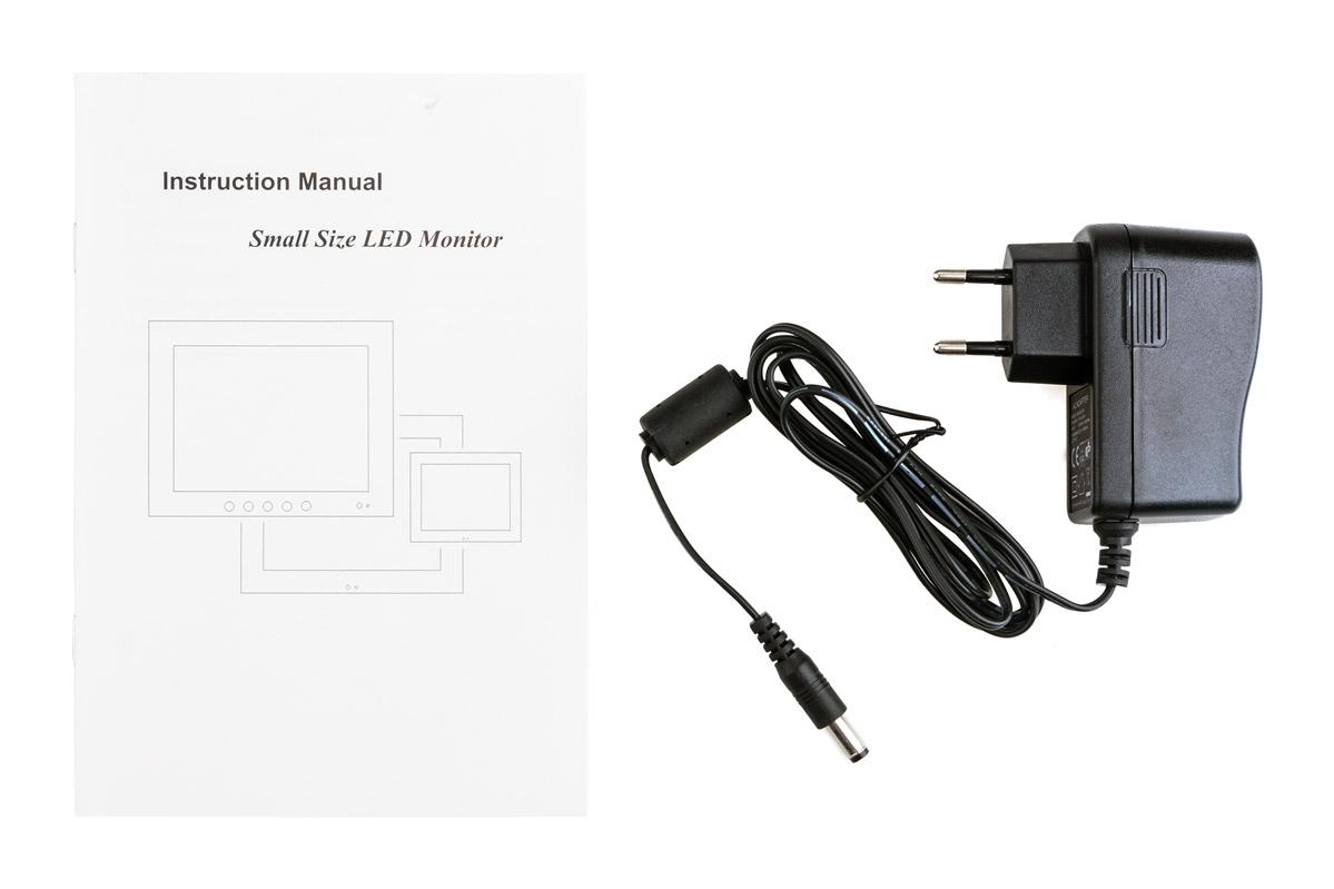 Instrukcja i ładowarka monitora VMT-075M