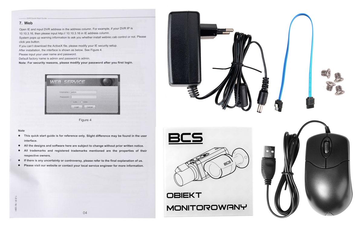 Akcesoria rejestratora BCS-CVR1601-IV