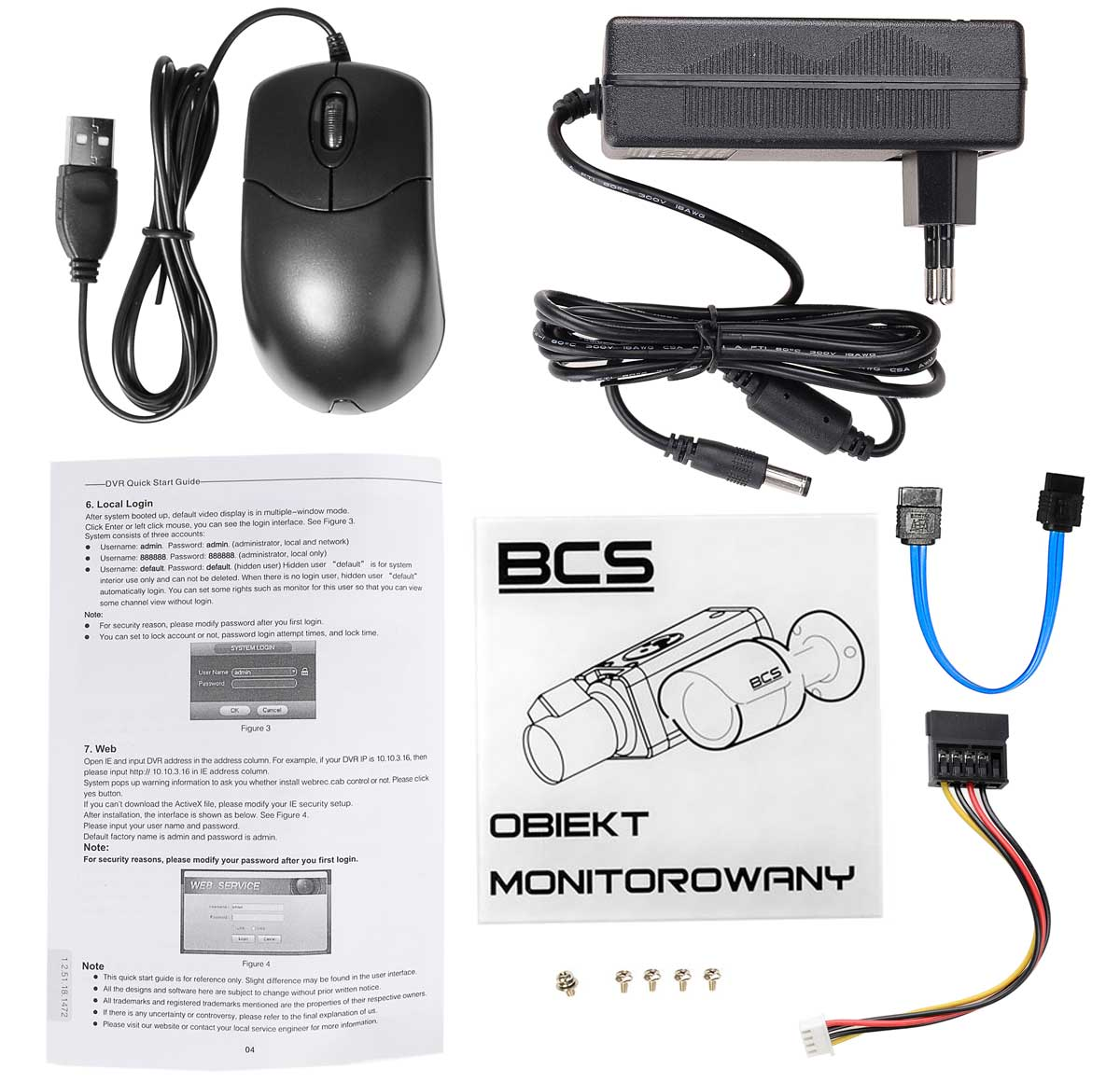 Akcesoria rejestratora BCS-CVR16014M