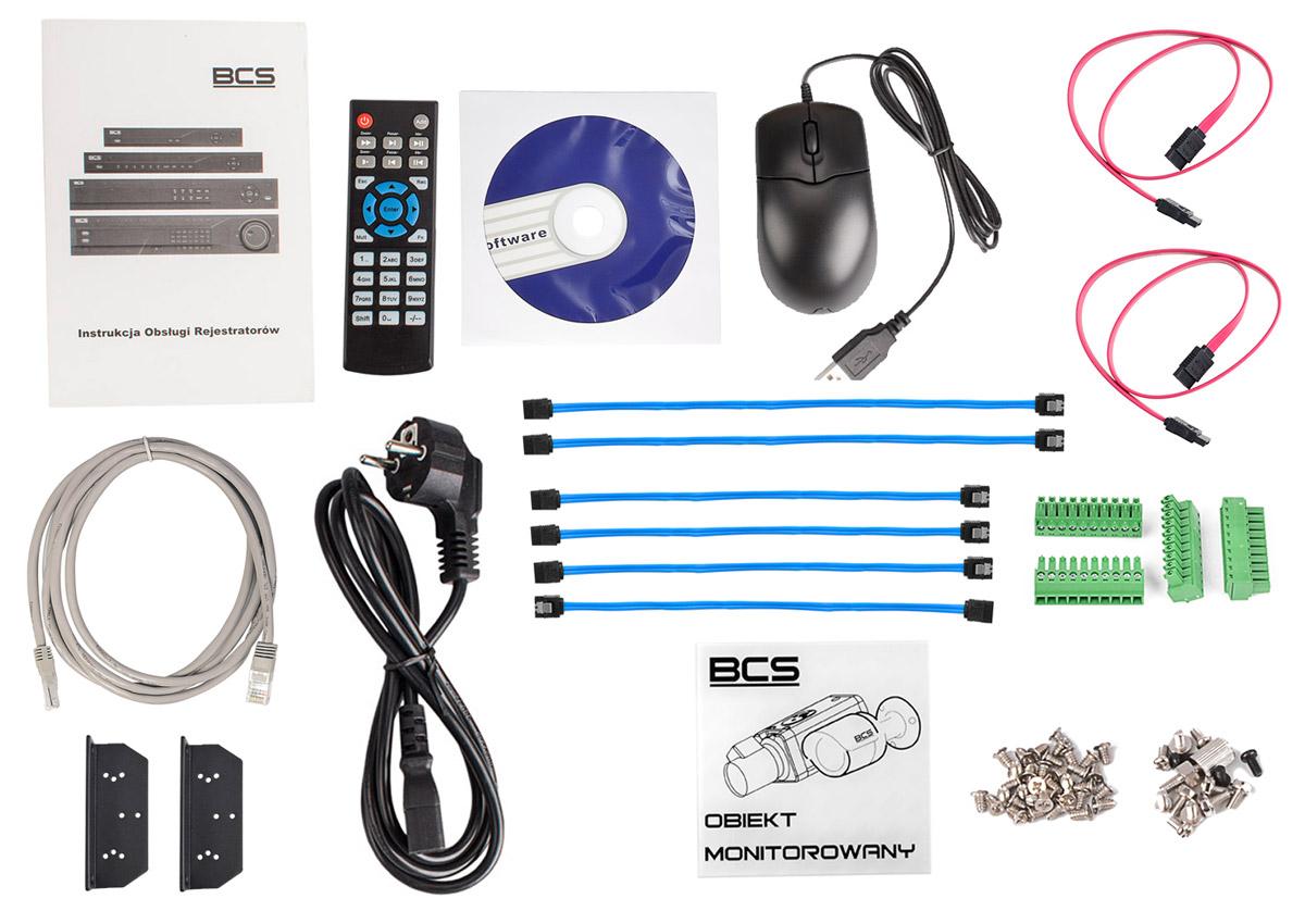 Akcesoria do rejestratora BCS-NVR1608-4K  dostępne w zestawie